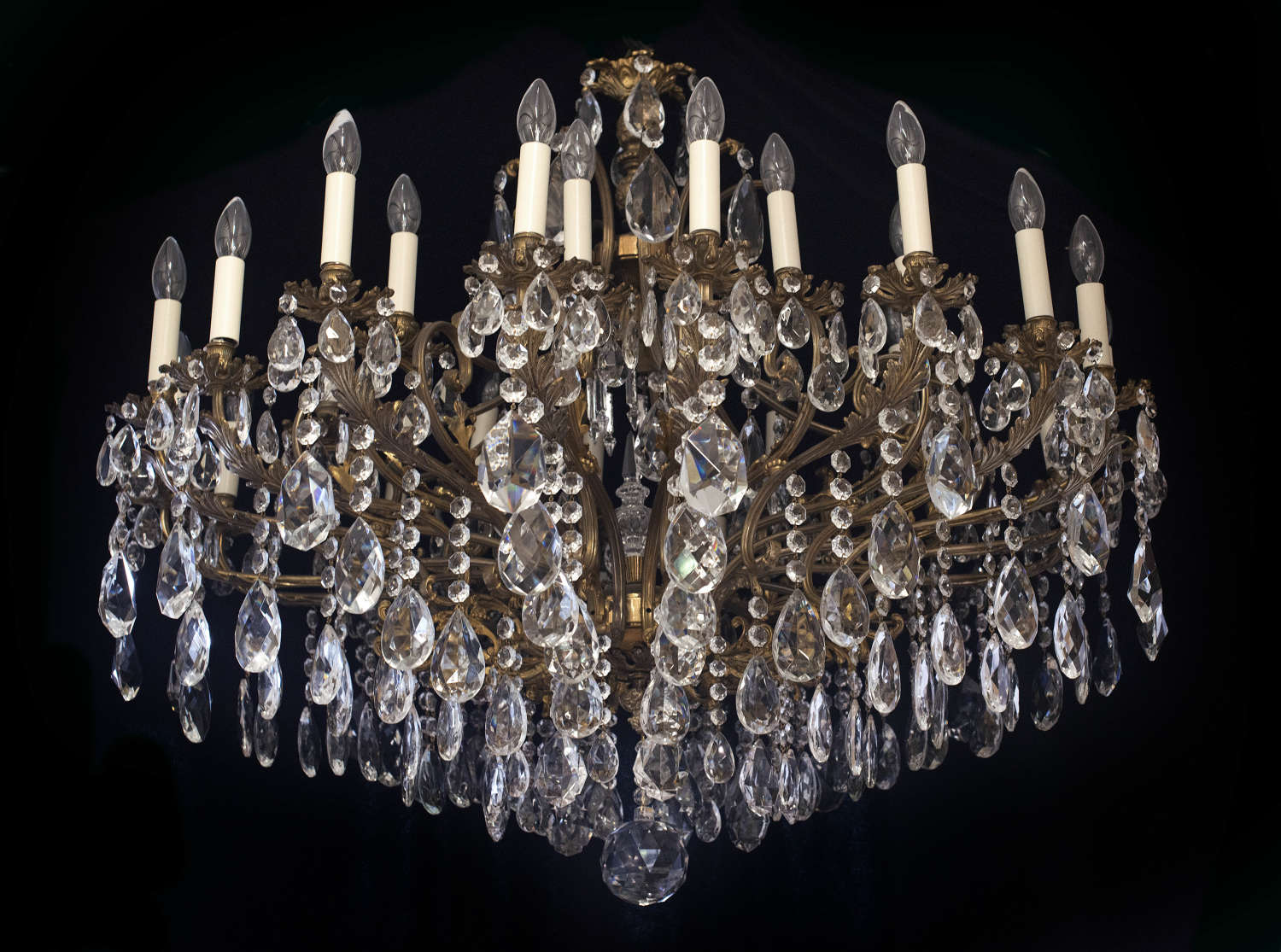 Very large 2 tiered, 27 light Italian Antique Chandelier