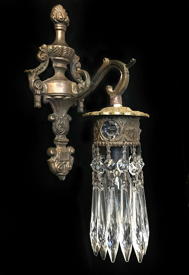 Pair of single light Antique Italian Wall Lights